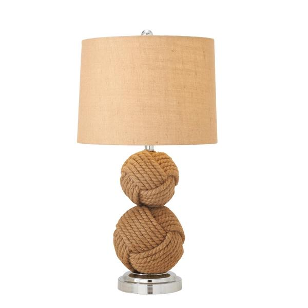 Natural Metal 27 Inch Rope Table Lamp