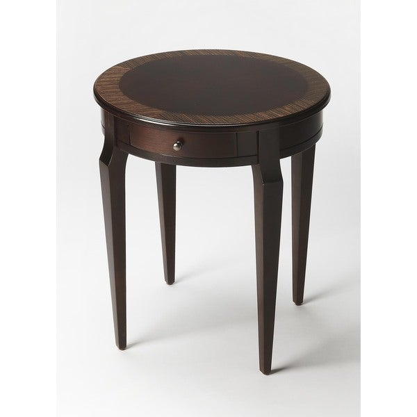 Handmade Butler Archer Cafe Brown Wood Nouveau End Table (China)