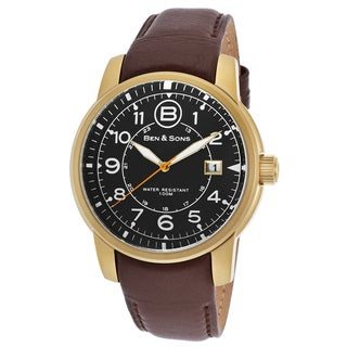 Ben & Sons Men's Brown Leather and Stainless Steel Watch