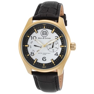Ben & Sons Marshall Stainless Steel Black Leather Watch