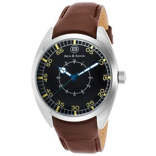 Ben & Sons Men's Brown Leather/Stainless Steel Watch