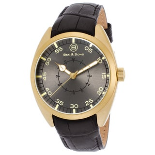 Ben & Sons Men's Voyager Black Leather Strap Watch
