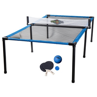 Franklin Sports Black/Blue ABS 8-foot x 4-foot Spyder Pong Table  sc 1 st  Overstock.com & Black Series Retractable Table Tennis Set - Free Shipping On Orders ...