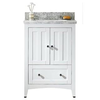 23.5-in. W x 18-in. D Plywood-Veneer Vanity Set In White