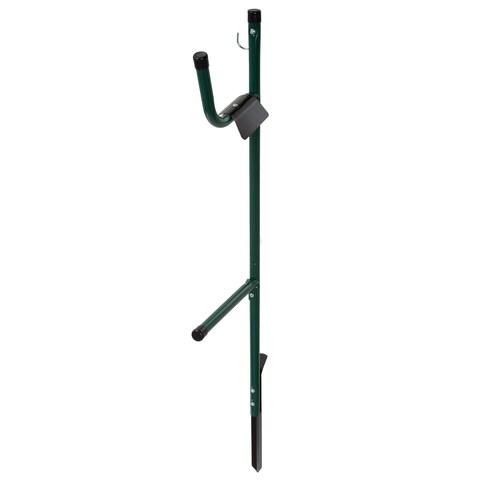 Garden Hose Holder Caddy- Easy Install Outdoor Free Standing Metal Rack for Hose Management by Stalwart