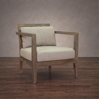 Stockholm Modern Beige Linen Arm Chair