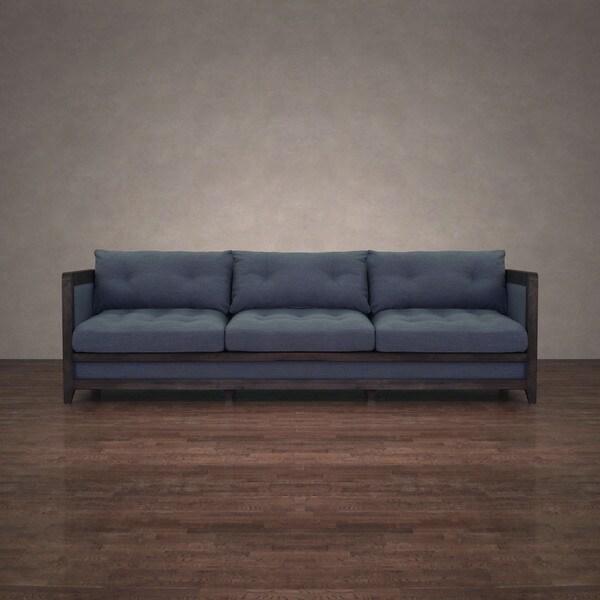 Shop I Love Living Creston Austria Navy Linen 94-inch Sofa