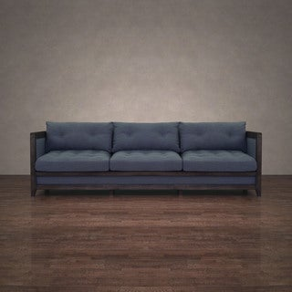 I Love Living Creston Austria Navy Linen 94-inch Sofa