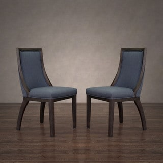 Park Avenue Austria Navy Linen Dining Chair (Set of 2)