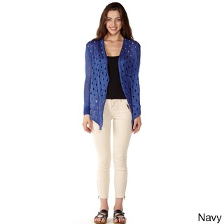 Dinamit Women's Multicolored Cotton Open-front Cardigan (More options available)