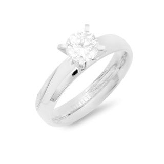 Silvertoned Stainless Steel Cubic Zirconium Engagement Ring