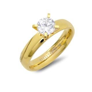Piatella Ladies Gold Tone Cubic Zirconia Engagement Ring
