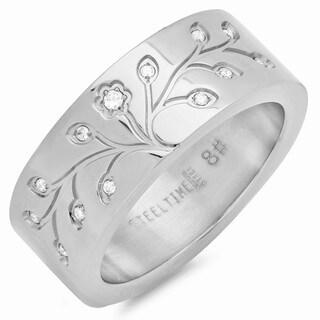 Piatella Ladies Stainless Steel Tree of Life Ring