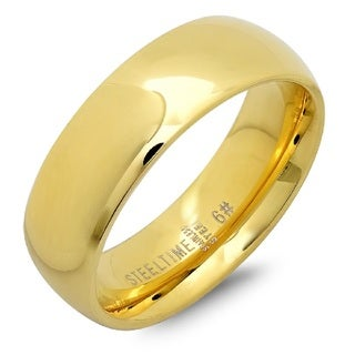 Link to Steeltime Gold Stainless Steel Band Similar Items in Rings