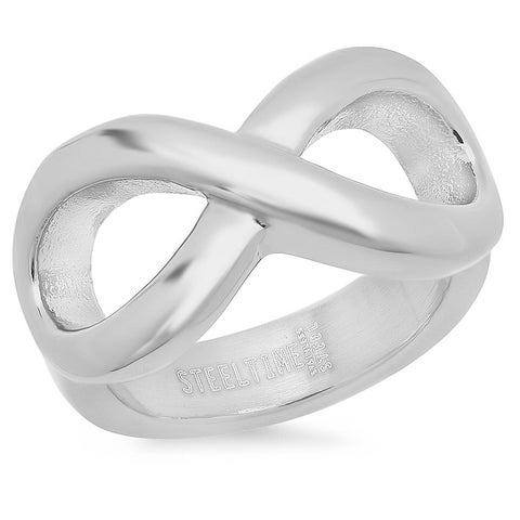 Piatella Ladies Stainless Steel Infinity Ring