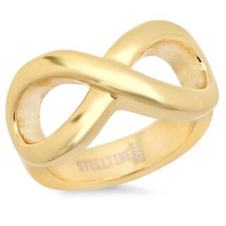 Piatella Ladies Gold Tone Infinity Ring