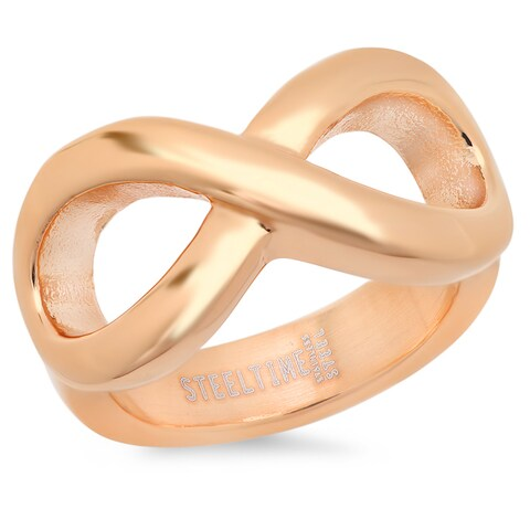 Piatella Ladies Rose Gold Tone Infinity Ring