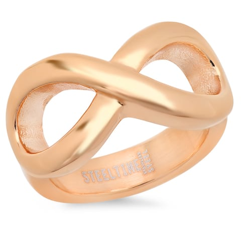 Piatella Ladies Rose Gold Tone Infinity Ring