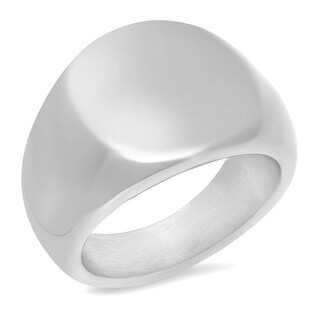 Silver Stainless Steel Signet Ring