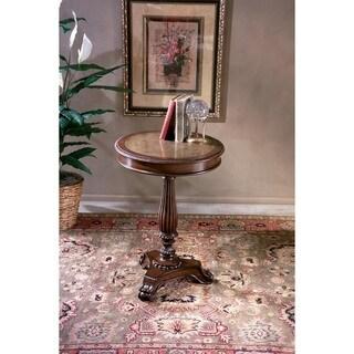 Butler Etched Brass Round Pedestal Table
