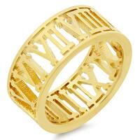 Piatella Ladies Gold Tone Roman Numeral Ring