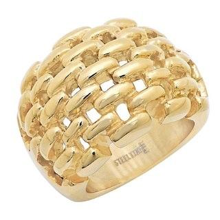 18k Goldplated Basketweave Ring
