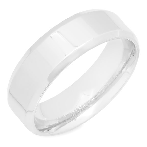 Steeltime Men's Stainless Steel Band Ring. Opens flyout.