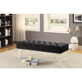 Meridian Celine Black Velvet Bench