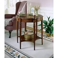 Butler Solid Wood Lightly Distressed Accent Table in Plantation Cherry Finish