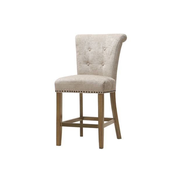 Incredible Shop Madison Park Weldon Cream Counter Stool 21W X 25 5 Machost Co Dining Chair Design Ideas Machostcouk