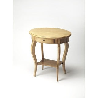 Butler Jeanette Beige Wood/Veneer/MDF Parrafin Oval Accent Table