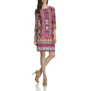 London Times Women's Multiprint Shift Dress