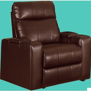 Plaza Brown Bonded Leather Two-arm Power Recliner