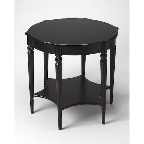 """Butler 28""""H Crafted Solid Hardwood Accent Table in Black Licorice Finish"""