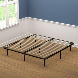 handy living king size wood slat bed frame