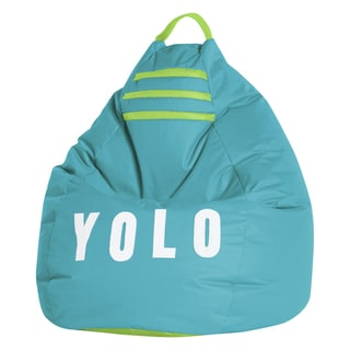 Sitting Point Oxford Fabric Yolo Green Fabric Extra Large Bean Bag