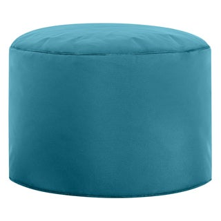 Sitting Point Oxford Fabric Brava Pouf Ottoman Bean Bag