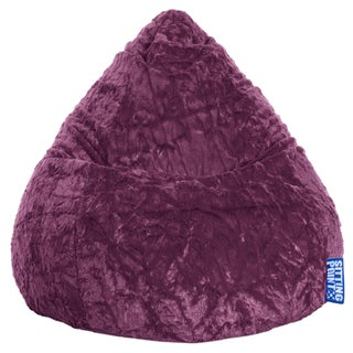Sitting Point Faux Fur Extra Large Fluffy Bean Bag (Option: Purple)