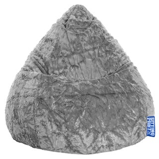 Sitting Point Faux Fur Extra Large Fluffy Bean Bag (Option: Grey)