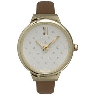Olivia Pratt Women's Classic-inspired Polished and Metal Leather Watch