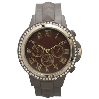 Olivia Pratt Women's Classic-inspired Rhinestone-accent Petite Watch