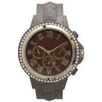 Olivia Pratt Women's Classic-inspired Rhinestone-accent Petite Watch