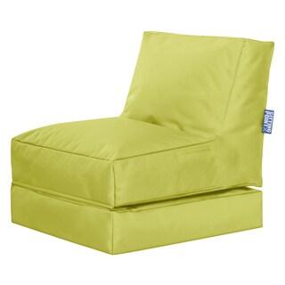 Sitting Point Waterproof Oxford Fabric Twist Scuba Green Bean Bag Lounge