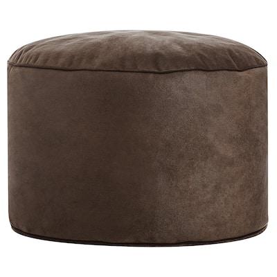 Sitting Point Wax Suede Fabric Dotcom Cuba Brown Polytex/ Polystyrene Pouf