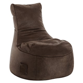 Sitting Point Wax Suede Fabric Swing Cuba Brown Bean Bag