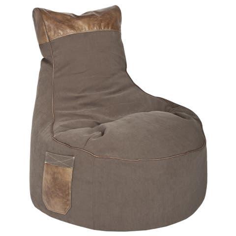 Sitting Point Brushed Fabric Swing Jamie Brown Bean Bag