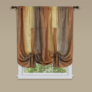 Ombre Multicolor Polyester Window Curtain Tie-up Shade