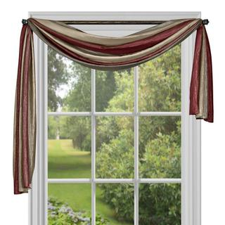 Ombre Polyester Window Curtain Scarf