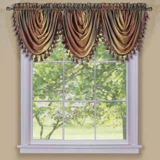 ACHIM Ombre Waterfall Window Curtain Valance