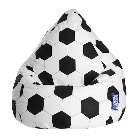 Sitting Point Oeko-Tex Certified Cotton Fussball Extra Large Bean Bag